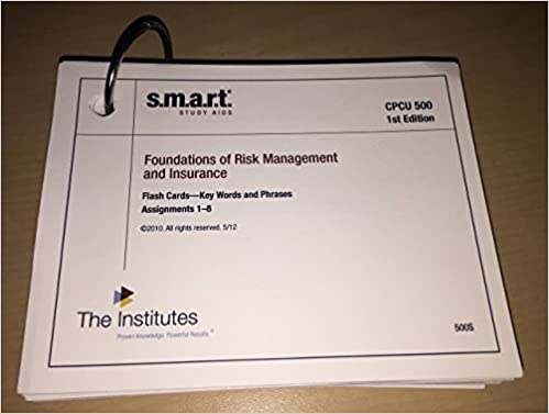 CPCU 500 SMART Study Aids 1st Edition Review Notes Flash Cards