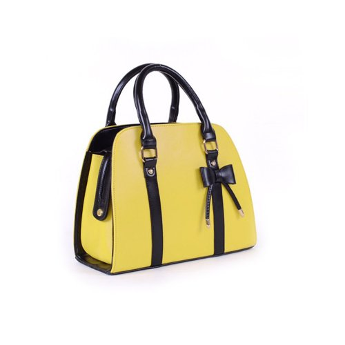 Color Handbag Ladies Finejo Bowknot Candy Bag Finejo Yellow Ladies Shoulder qRI8wIP