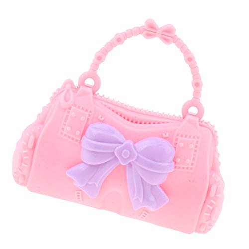 Baoblaze Plustic Butterfly Doll Kid Accessories Bag Handbag Barbie Dolls 30cm Bag 28 Pretty Girl Shoulder Pink for fUnxrwUq