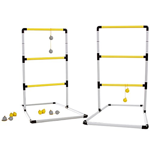 SPORT BEATS Premium Ladder Toss Game Set with 6 Bolos and Carrying Case for Indoor or Outdoor