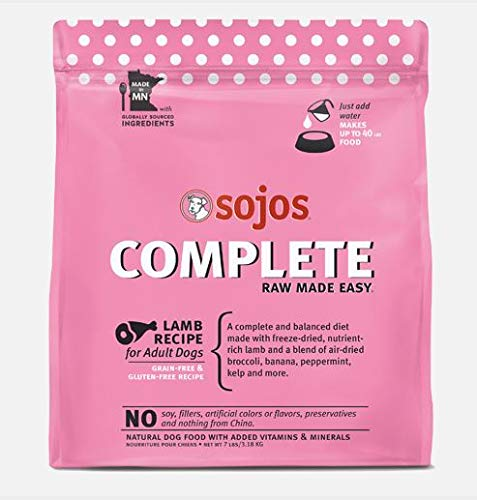 Sojos Complete Raw Made Easy Freeze-Dried, 7-Pound Bag Dog Food Lamb Recipe