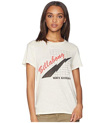 (Billabong Women's Ride The Wave T-Shirt White Cap Medium)