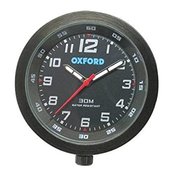 OXFORD BLACK ANALOGUE CLOCK FOR MOTORBIKE/MOTORCYCLE OR ATV ...