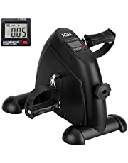 Mini Exercise Bike Pedal Exerciser Portable Cycle Arm and Leg Exerciser with LCD Display