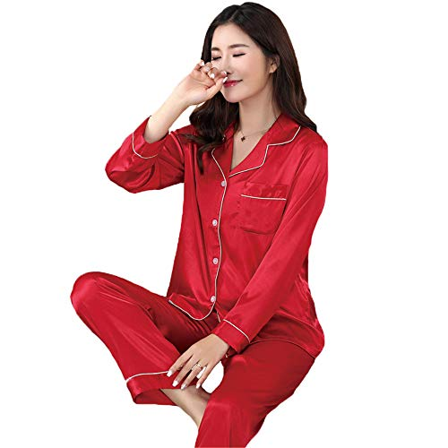 Sleepwear Wear Pigiama Suit Lunga Donne 2pcs M Set Camicia Nuovo Jyhtg Casual Pantaloni Manica Home Nightwear Autunno qtfFS