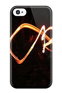 Excellent Iphone 4/4s Case Tpu Cover Back Skin Protector Fire Juggling