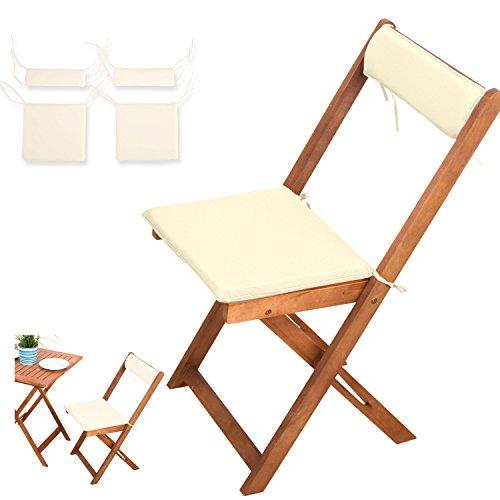 4-tlg-Auflagen-Set-creme-weiss-fr-Balkonsets-Terassen-Sets-Bistrosets-Balkonmbel-Gartenstuhl-Holz-Gartenmbel-2x-Sitz-Auflagen-2x-Rckenkissen