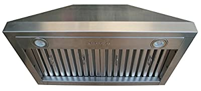 Hammered Copper Range Hood with Stainless Steel 304 Vent, LED Lights, 4-Speeds Controls Switch, Oil Tunel Sinda H7B