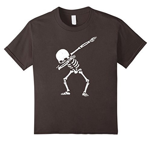 Kids Dabbing Skeleton Shirt Dab Hip Hop Skull Shirts 6 (Office Related Halloween Costumes)