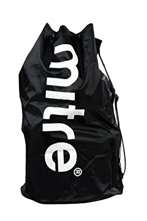 Mitre Unisex Adult 12 Ball Football Bag, Black, One Size