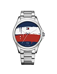 Tommy Hilfiger 'Smartwatch' Quartz Stainless Steel Casual Watch, Color Silver-Toned (Model: 1791405)
