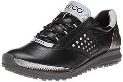 ECCO Women's Biom Hybrid 2 Golf Shoe, White/Meadow, 40 EU/9-9.5 M US