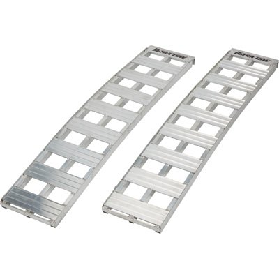 - Ultra-Tow Non-Folding Arched Aluminum Loading Ramp Set - 2500-Lb. Capacity, 5Ft.L