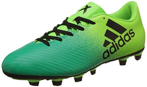 Adidas X 16.4 FXG, Scarpe per Allenamento Calcio Uomo, Verde (Versol/Negbas/Verbas), 45 1/3 EU