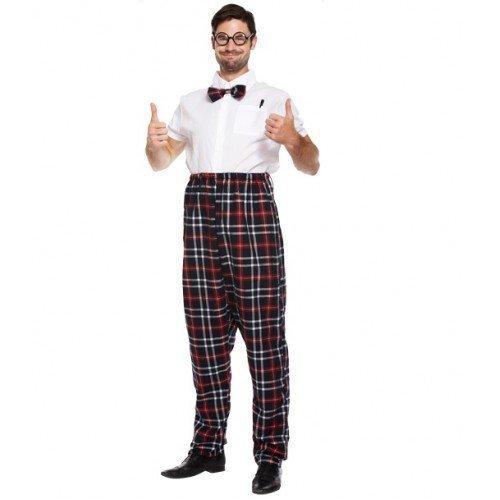 Mens Adult School Boy Geek Nerd Uniform Stag Do Fancy Dress Costume Outfit by Fancy Me (Schoolboy Fancy Dress)