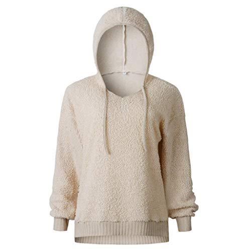 Sweat Manches Casual Trydoit Neck Longues Blouse Chic V Chemises Blanche Hoodie Pull Femmes Kaki vHFwHxEf