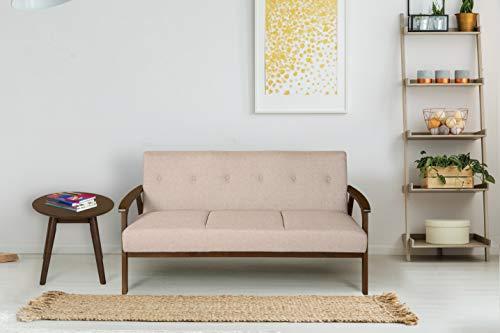 Nilkamal Zoey 3 Seater Sofa, Dark Walnut