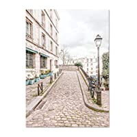 GUOXIN12 Wall Art Paris Posters and Prints,Bedroom Decor Contemporary Pink Canvas Painting Modern City,Picture for Living Room kk69