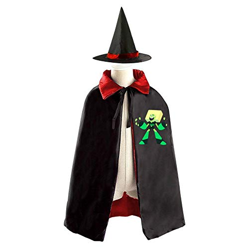 DIY Per-idot St-even Un-iverse Costumes 3D Printed Party Dress Up Cape Reversible with Wizard Witch Hat for $<!--$9.99-->