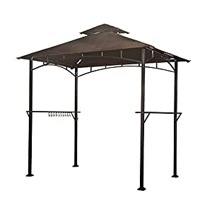 Sunjoy L-GG001PST-F 8? x 5? Soft Top Grill Gazebo with 4pcs LED by Sunjoy