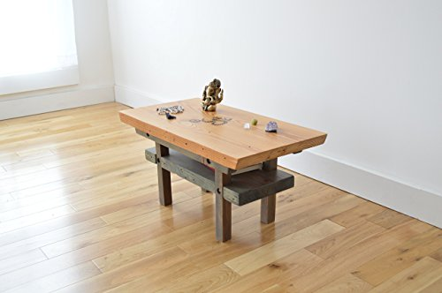 Reclaimed Wood Meditation Altar - Two Toned by Herb's Furniture