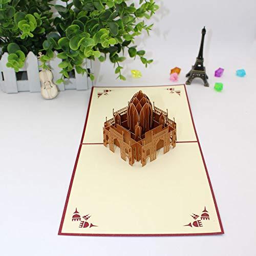Ketteb Educational Toys 3D DIY Three-Dimensional Paper-Cut Card Decoration Anniversary Holiday Card ()