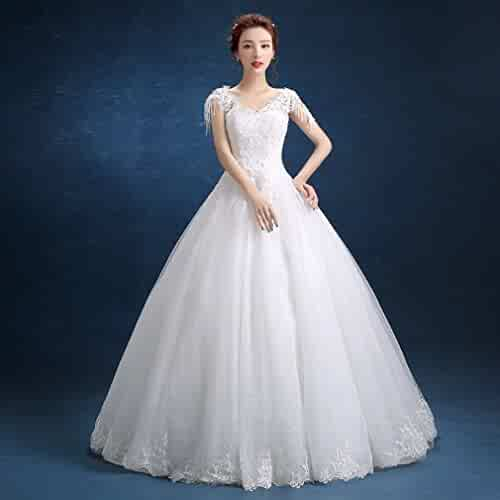 98f97bc7a4 PLLP White Bride Wedding Dress Qi Di Slim Big Size Beautiful Bride Bride  Bridesmaid Dress