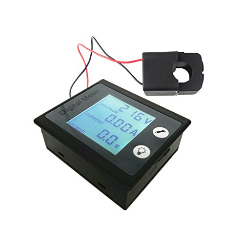 uniquegoods AC 80-260V 100A Digital Current Voltage Power Energy Meter Ammeter Voltmeter with Split-core Current Transformer + STN Full view LCD Display Screen 360 Degree, Auto-memory