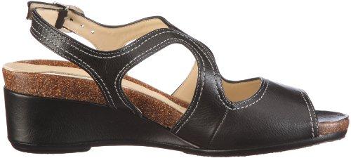 para Sandalias 1 Hassia 304021 vestir de 0100 Weite cuero de H mujer Negro Siena w1wxq4UP