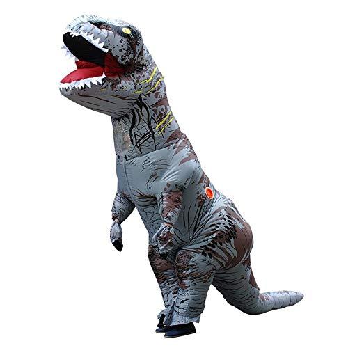 KNOSSOS Costume Animale Gonfiabile Diverdeente di Cosplay del Partito del Dinosauro per Il Bambino Adulto 160-200CM - grigio