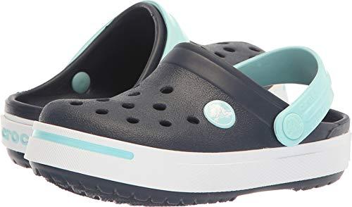 Crocs Kids Unisex Crocband II (Toddler/Little Kid) Navy/Ice Blue 10-11 M US Toddler/Little Kid