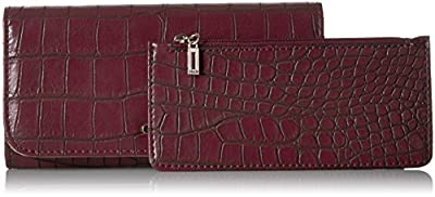 GUESS Frankee Croco Large Flap Organizer Wallet