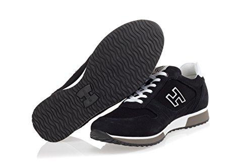 con Hogan Scarpe in in Nero Nabuk Uomo 'H198' Inserti Tecnico Sneakers Tessuto wrYxqngr