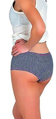 2996c39d8f3a Emprella Women's Boyshort Panties (6-Pack) Seamless, Breathable ...