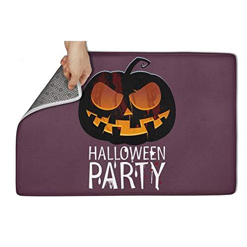 Koldd Happy Halloween Pumpkin Carving Outdoor Door Mats 23.5x15.5 Easy to Dry Mud Doormat Extra Absorbent Door Mats ()