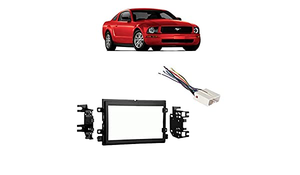 Fits Ford Mustang 2005-2006 Double DIN Stereo Harness Radio ...  Ford Mustang Radio Wiring Harness on nissan wiring harness, 2004 mustang wiring diagram, 2004 mustang radio fuse,