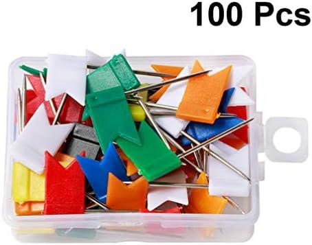 HEALLILY chinchetas de plástico con chinchetas con pines de dibujo de bandera de plástico para cartulina de corcho de mapa: Amazon.es: Hogar