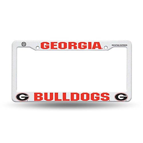 (Rico NCAA Georgia Plastic Frame Sports Fan Automotive Accessories, Multicolor, One)