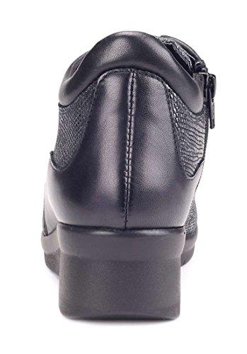 The Semelle Compensée Femme Fer Gris Et Noir Paul Sneaker Walker Flexx HwqrHI