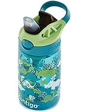Contigo Easy Clean Autospout kinderdrinkfles met rietje, BPA-vrije stevige waterfles, 100% lekvrij, eenvoudige reiniging, ideaal voor kinderdagverblijf, kleuterschool, school en sport, 420 ml