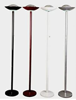 Halogen torchiere floor lamp 71 tall model 3030 white amazon 190 watt halogen torchiere floor lamp 71 h burgundy with dimmer switch mozeypictures Gallery