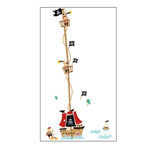 uxcell Kid Height Chart Measure Design Removable Wall Sticker Decal (Wallpaper Growth Chart)