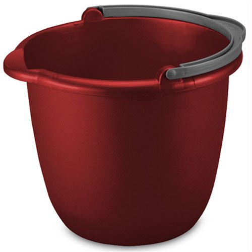 STERILITE 11205812 10QT RED Spout Pail, 10 Quart
