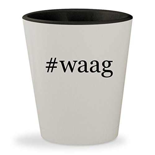 #waag - Hashtag White Outer & Black Inner Ceramic 1.5oz Shot (04 Waag Grille Guard)
