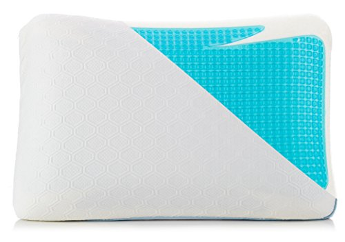 Cooling Pillow - Blue Gel Memory Foam Bed Pillows for Sleeping Cool - Includes High...