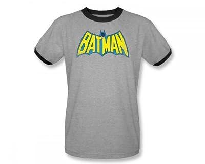 DC DC T-Shirt Heather/Black Adult Men's Women's Short Sleeve T-Shirt