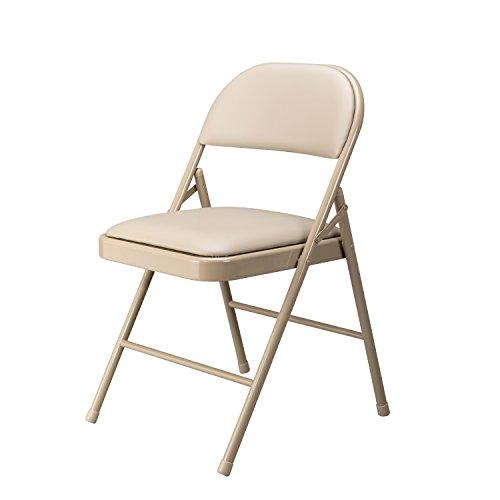 - Essentials Multipurpose Padded Metal Folding Chair, Antique Linen / Tan - 4 Pack (ESS-8210-ALN)