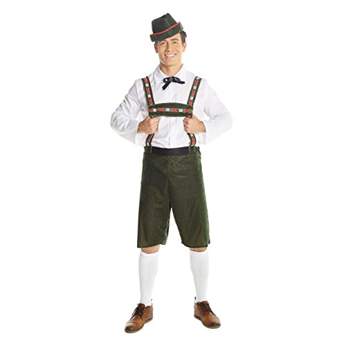 Mens German Lederhosen Costume for Men Oktoberfest Beer Fancy Dress -