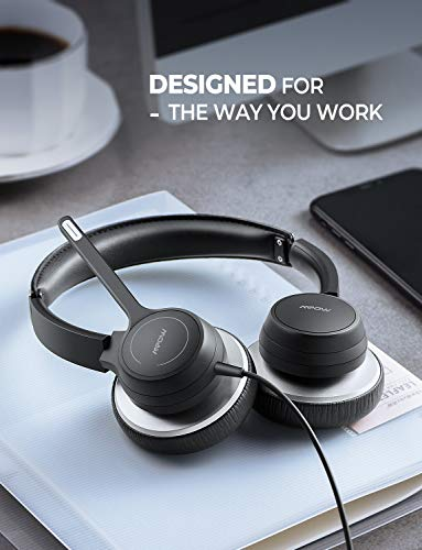 270 Degree Boom Mic Comfort-fit 4.8oz Office PC Headsets Mpow USB//3.5mm Headset with Microphone On Ear Computer Headphone with Noise Reduction in-line Volume Control with Mute for Skype Webinar