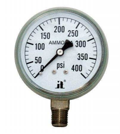 Zenport APG400 Zen-Tek Ammonia Gas Pressure Gauge, 400 PSI, Box of 10 by Zenport